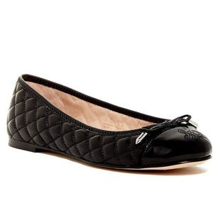 Sam Edelman Becka Black Quilted Ballet Flats